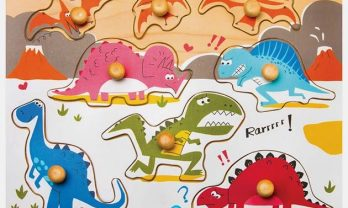 ROBUD Dinosaurier Steckpuzzle HP005